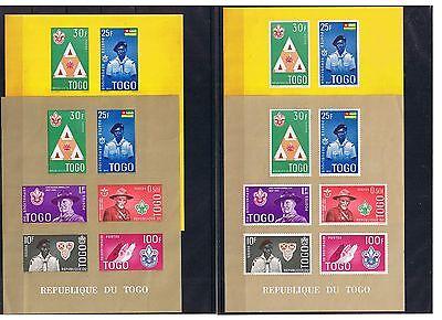 Afrika Togo Minr Block 5 A + B In X + Y 4 Blöcke Postfrisch ** Freigabepreis