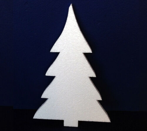 80 POLYSTYRENE CHRISTMAS TREE MEDIUM DESIGN 450MM HEIGHT 10MM THICK
