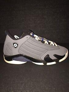 89756e786f6072 Nike Air Jordan Retro OG Graphite Grey 14s Size 7 GS Kids OG Box ...