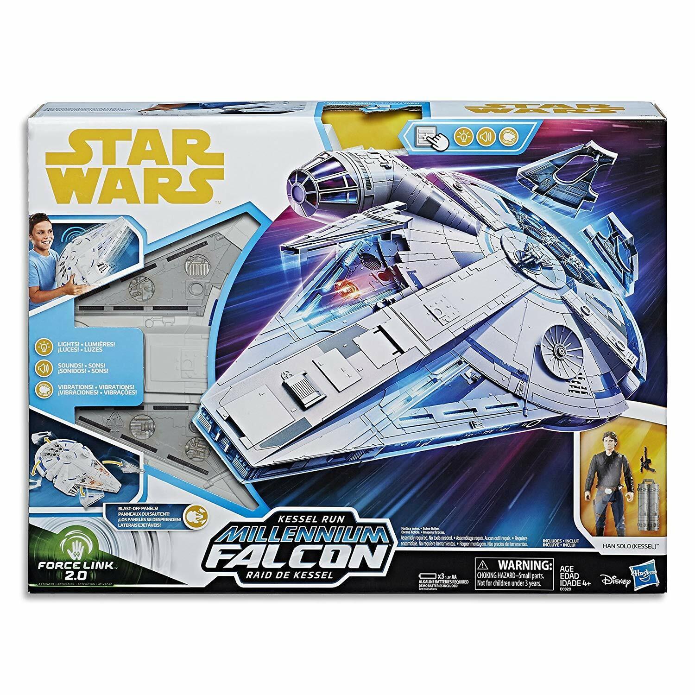 Stern Wars Force Link 2.0 Kessel laufen Millennium Falcon with Han Solo Figure - NEW