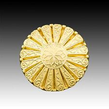 High Quality Vintage Button Metal Gold Flower Motif  25mm  40003024