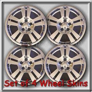 2007 lincoln mkx chrome wheel skins 17 hubcaps chrome wheel covers set of 4 ebay. Black Bedroom Furniture Sets. Home Design Ideas