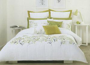 Posie Green White Quilt Duvet Doona Cover Set Choose Double