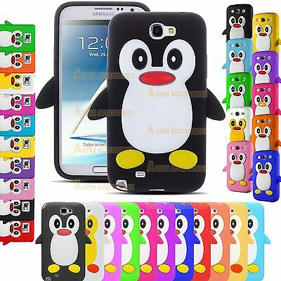 3D Silicone Soft Gel Rubber Penguin Back Case Cover Skin For iPhone, Samsung