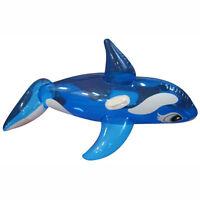 Aufblastiere Jumbo riesiges Schwimmtier Shark Funday 254x 122 cm XXL-Hai aufblasbar