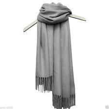 New Women's Fashion Gray 100% Cashmere Pashmina Soft Warm Wrap Shawl Scarf