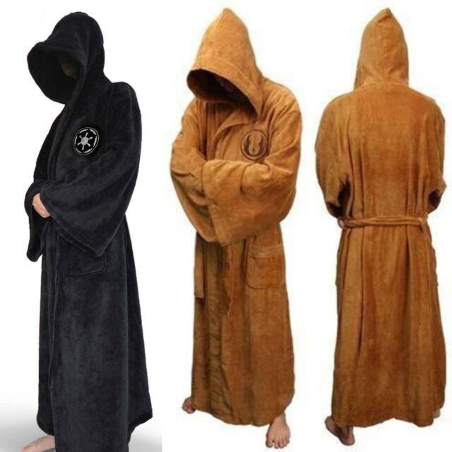 Men Star War bath Robe-Jedi Sith hooded bathrobe Cloak Soft Fleece ...