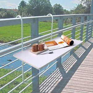 Mesa para balc n plegable terraza de barandilla repelente for Mesas plegables para terraza