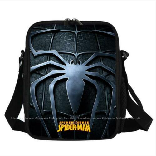 Portable Lunch Bag Spiderman Insulated Thermal Cooler Box Carry Tote Travel Bag