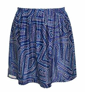 Forty-Love-Junior-039-s-XL-or-Women-039-s-M-Blue-Geometric-Polka-Dot-Tennis-Skirt