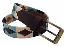 HAND MADE LEATHER BELT EMBROIDERED POLO ARGENTINIAN GAUCHO STYLE MEDIUM / LARGE