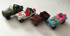 Lot of 4 Hot Wheels Used Jeep Wrangler Diecast Cars 1:64 Scale