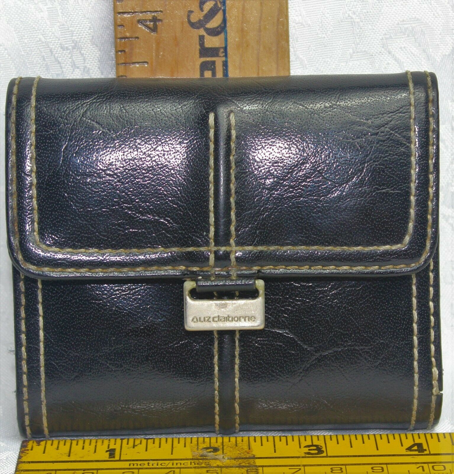 Liz Claiborne Faux Leather Tri-Fold Wallet