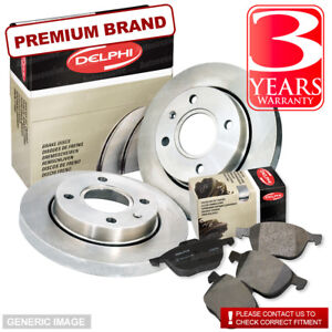 Rear-Delphi-Brake-Pads-Brake-Discs-299mm-Solid-Ssangyong-Musso-2-0-2-3-2-9-TD