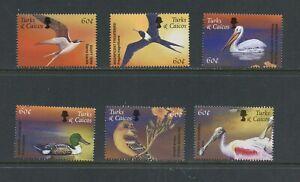 B353-Turks-amp-Caicos-2000-birds-6v-MNH