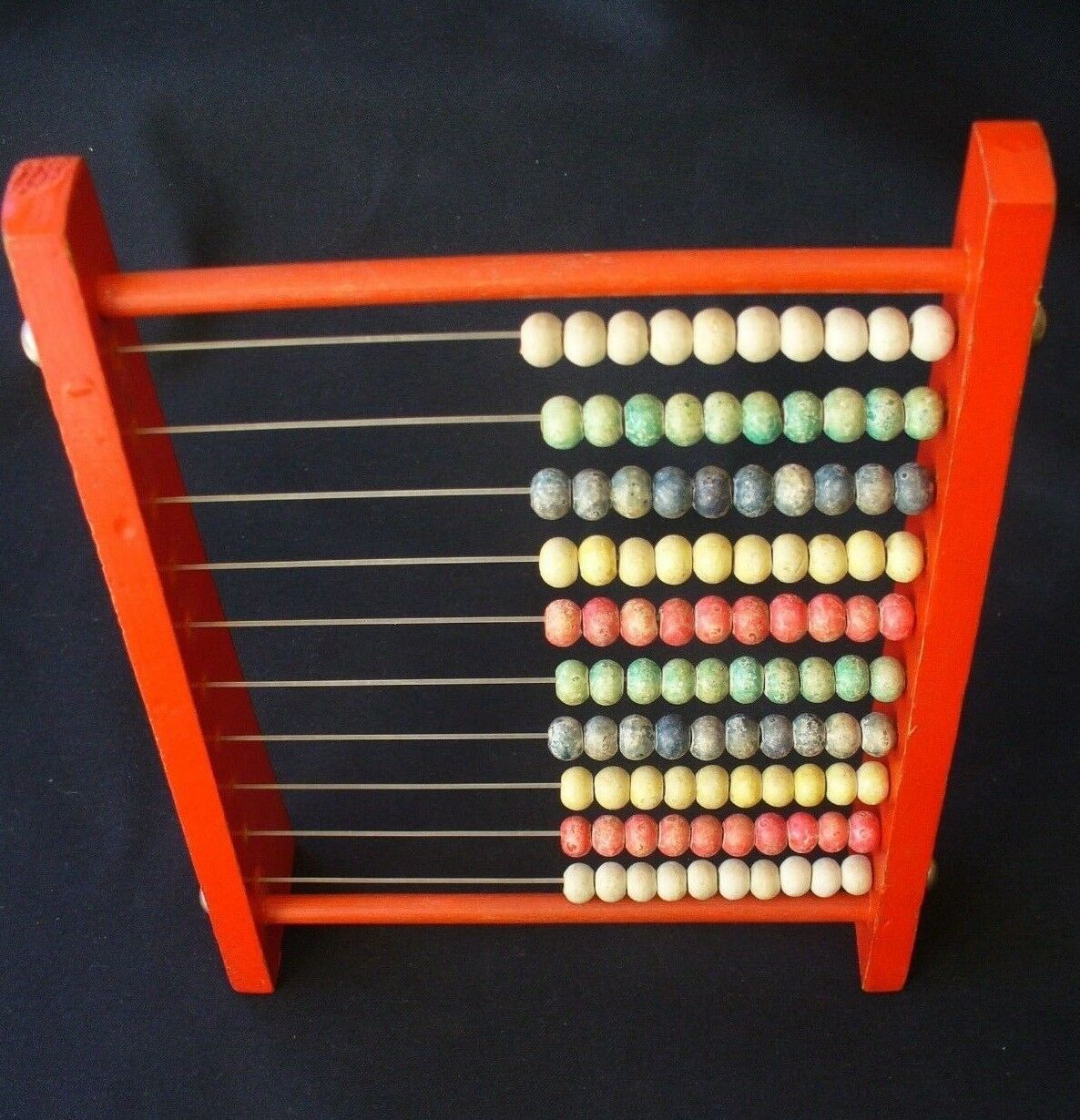 Vintage Wooden Abacus with Ceramic Beads.  Excellent Condition.