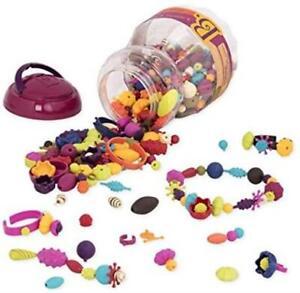B-Toys-500-Pcs-Pop-Snap-Bead-Jewelry-DIY-Jewelry-Kit-for-500-Pcs