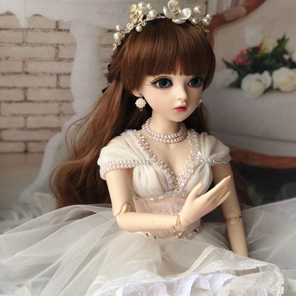 1 3 BJD SD muñeca 24  Niñas Muñeca + Gratis Ojos + + Ropa Set Completo De Maquillaje de Cara Juguete