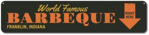 Personnalisé WORLD FAMOUS Barbecue ici ARROW ville état signe ENSA 1001695