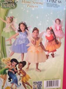 Simplicity-Sewing-Pattern-1792-Girls-Child-Disney-Fairy-Costumes-Size-1-2-3-UC