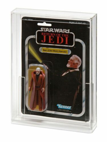2 x GW Acrylic Display Cases Vintage Carded Star Wars//GI Joe MOC ADC-001
