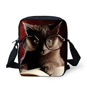 ba954f59c8f Cute Small Shoulder Bag Funny Cat Messenger Bag Women Handbag Purse ...