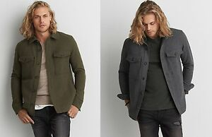 95b35a21c0c Image is loading American-Eagle-Outfitters-Mens-AEO-Wool-Blend-CPO-