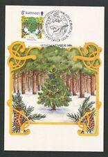 GUERNSEY MK 1986 WEIHNACHTEN CHRISTMAS NAVIDAD CARTE MAXIMUM CARD MC CM d9185