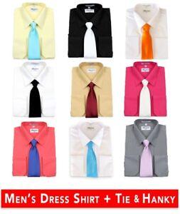 Men-039-s-Berlioni-Business-Tie-Set-Dress-Shirt-Tie-And-Hanky-Gift-Set