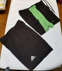 Lot-2-Adidas-amp-Under-Armour-Boy-039-s-Shorts-Sz-Small-Basketball-Athletic-Kids