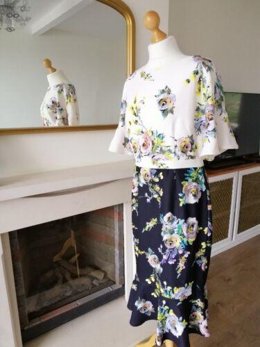 Nouveau 130 £ Phase huit Anita robe à fleurs Taille UK 14 2019 Gamme!