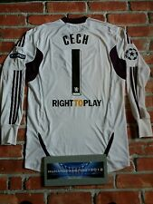 RARE Chelsea grandi 2012 CHAMPIONS LEAGUE HOME CECH CALCIO SHIRT PORTIERE