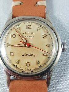 Boillat Les Bois Military men's Watch, collector watch !Rare watch !