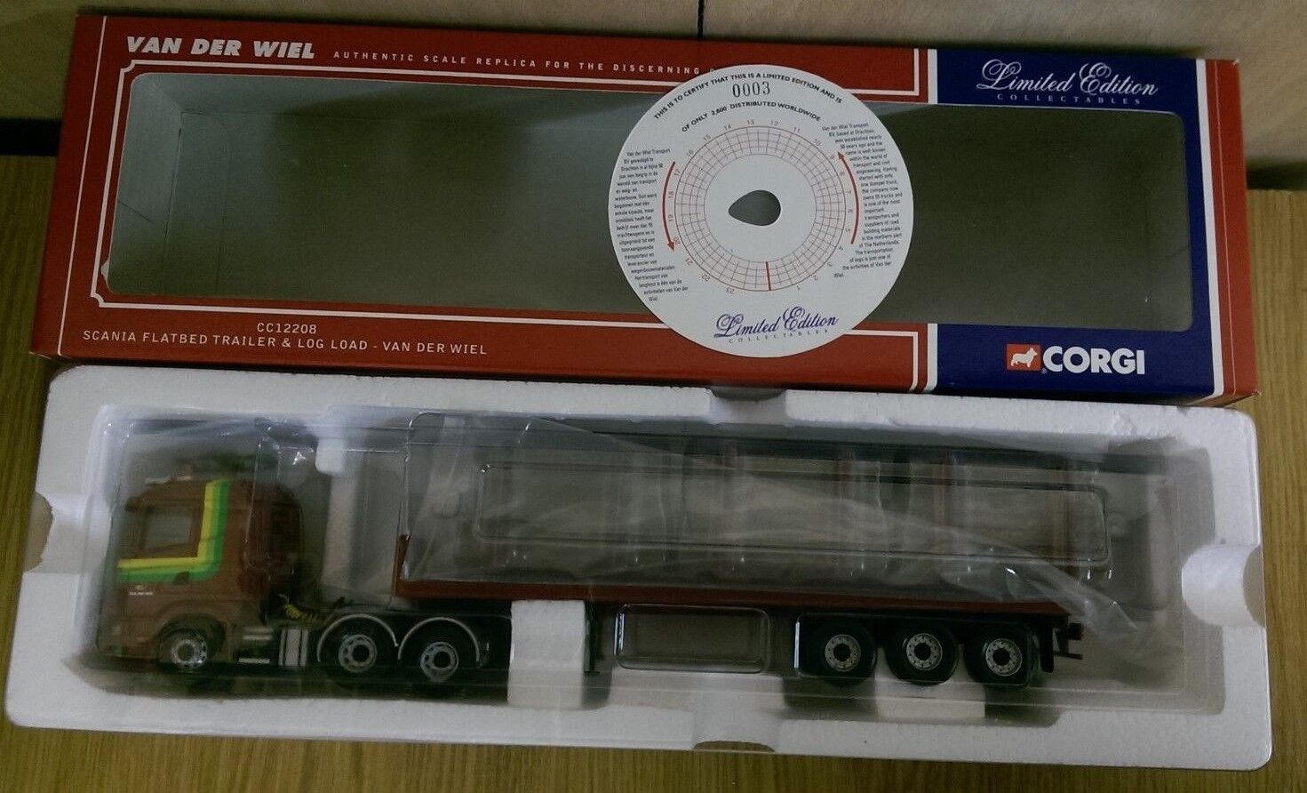 Corgi cc12208 scania - van der wiel ltd anhänger log laden. - 0003   2600