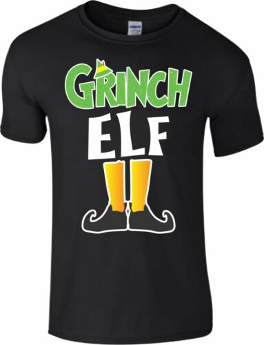Grinch Elf Christmas T Shirt Novelty Xmas Pyjama PJ/'s Idea Kids Adult Unisex Top