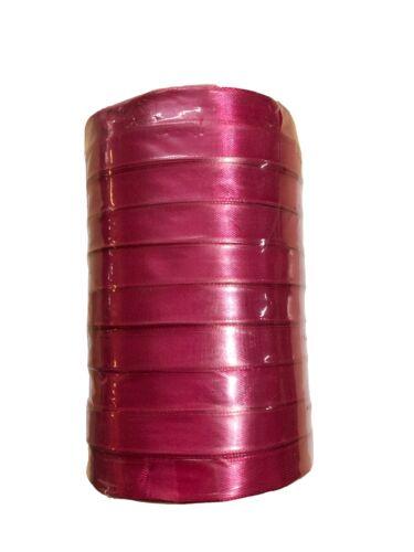 10mm x 200m Full Reel Bulk SATIN Quality Tying RIBBON Bulk Craft 10 Rolls