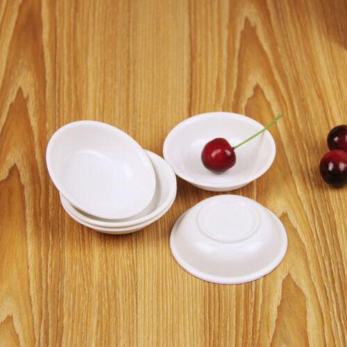 10pcs White Sushi Soy Sauce Dipping Dishes Plates Bowls Seasoning Plates