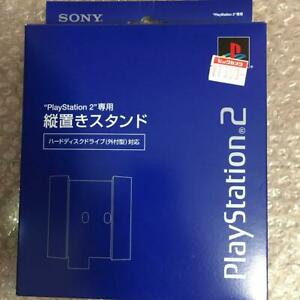Mint-offizielle-Sony-Playstation-2-blau-vertikaler-Staender-SCPH-10220-ps2-Boxed