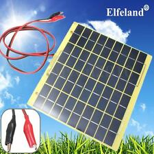 Elfeland 12V 5W Solar Panel & Clips For Car Home Camping Boat Battery Charger