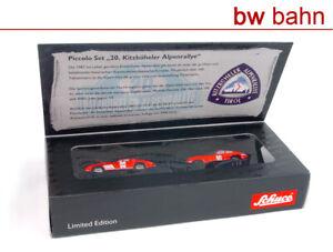Schuco-1-87-05823-Piccolo-set-20-Kitzbuheler-Alpes-rally-MB-300-sl-Jaguar-Tipo-E