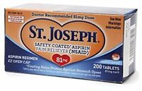 2 Pack St. Joseph Low Dose Aspirin 81mg 200 Micro Tablets Each on sale