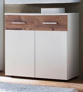 Waschbeckenunterschrank Weiß Fichte Bad Unterschrank Schrank 70 Cm