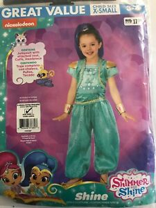 SHINE-Nickelodeon-Shimmer-and-Shine-child-XS-3-4-Genie-costume-Complete-New