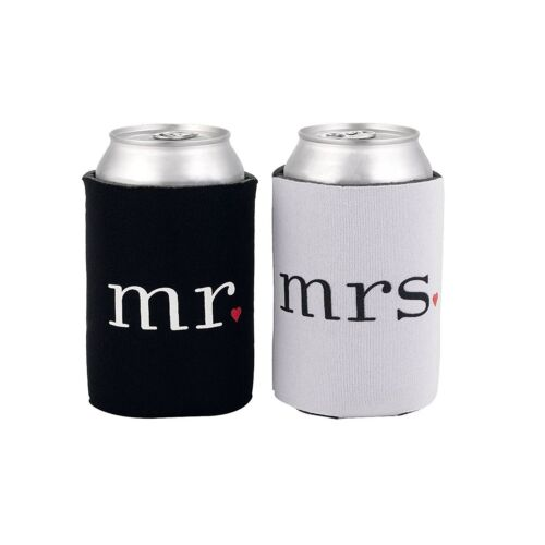 and Mrs Mr Can Coolers His and Hers Valentines Day Couples Wedding Gift