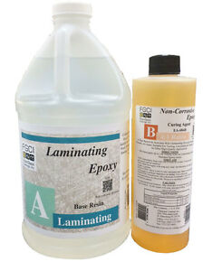 Laminating Epoxy Resin 4:1 Kit (1/2 GL - Base & 1 PT - Curing Agent) 137706