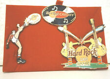Hard Rock Cafe CARDIFF Boxed Grand Opening 3 Pin Set .