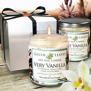 Handmade-Two-8-5-oz-Soy-Candles-that-smell-AMAZING-Very-Vanilla-Soy-Candle