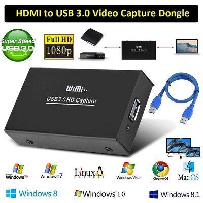 HDMI to USB 3.0 di acquisizione Video HDMI Dongle Full HD 4K 1080P 60FPS Audio Video Convertitore Adattatore HDMI to USB per Windows Linux Mac OS