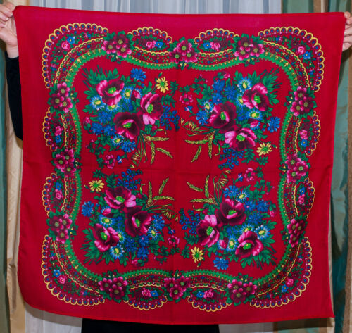 Ukrainian Floral Scarf chale russe Different colors foulard russe Russian Shawl