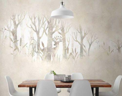 3D Forêt Hazy 5 Photo Papier Peint en Autocollant Murale Plafond Chambre Art